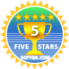 5 Stars Award from SoftSia.com